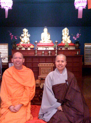 Br. ChiSing and the Ven. Beop Jun Sunim