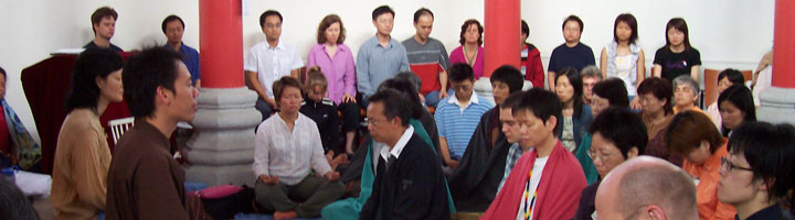Br. ChiSing facilitating a retreat in Hong Kong - 2005