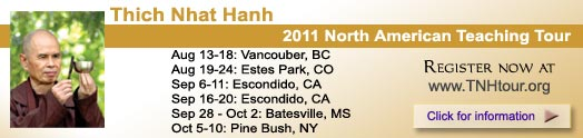 Thich Nhat Hanh, 2011 North American Teaching Tour