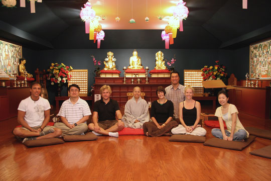 Saturday meditation gathering at Bo-Hyun Temple in Richardson, Texas